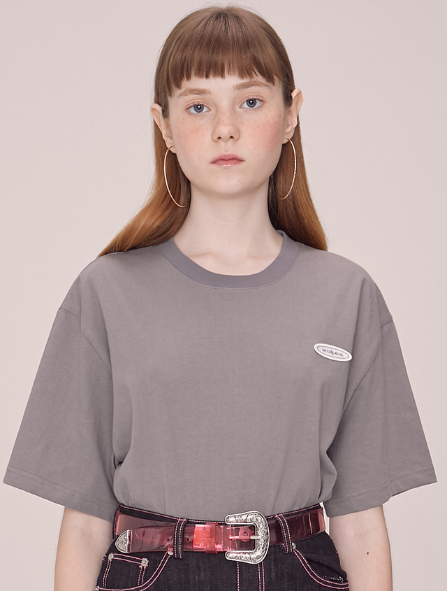 [Unisex]SCULPTOR Ellipse Tee [CHARCOAL]