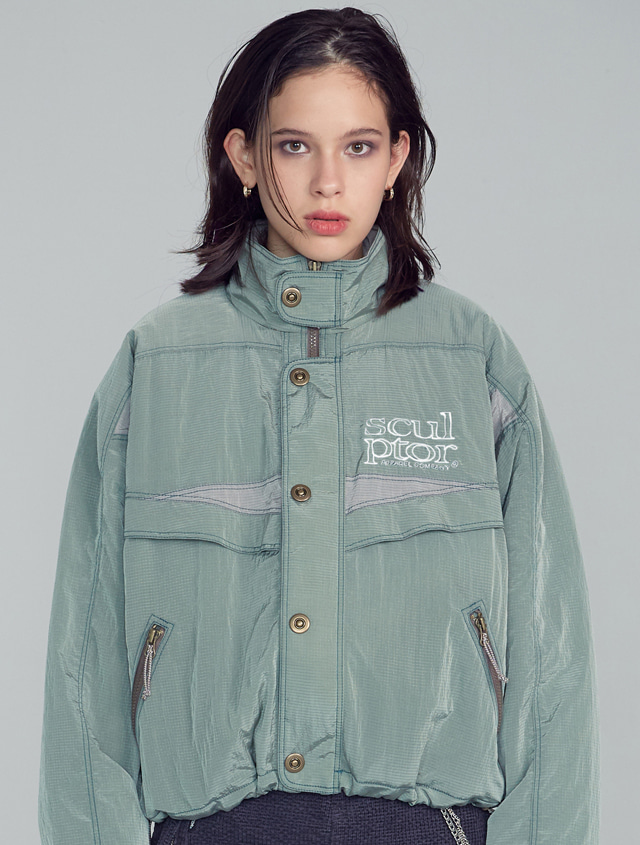 Retro Combi Windbreaker [PALE MINT]