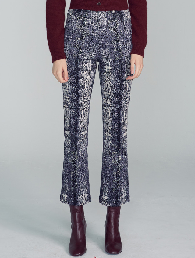 Python High-rise Pants [BLUE BLACK]