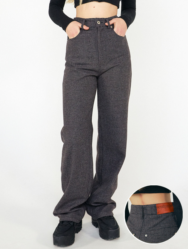 Wool Wide Leg Pants [CHARCOAL]