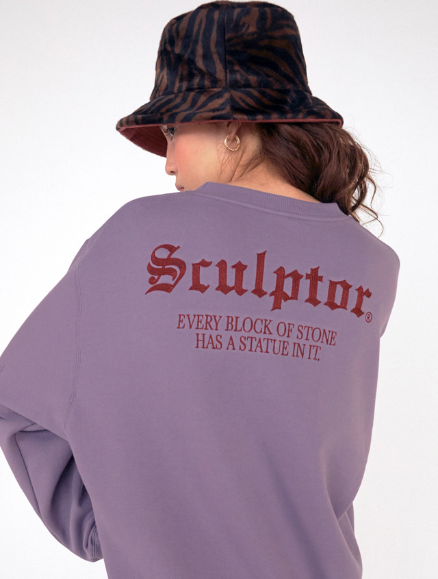 Gothic-Logo Sweatshirt [DUSTY PURPLE]