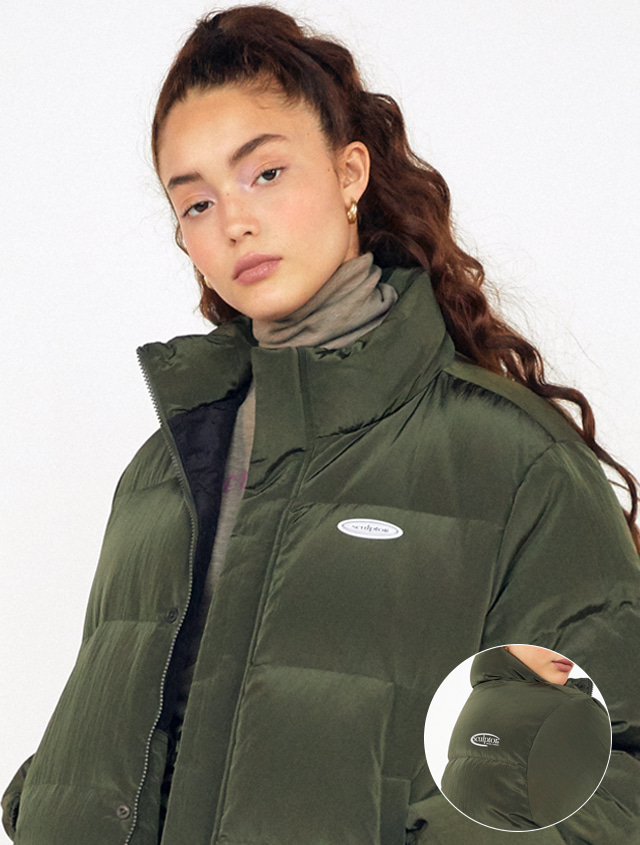 SHORT REVERSIBLE PUFFER DOWN [D/KHAKI]