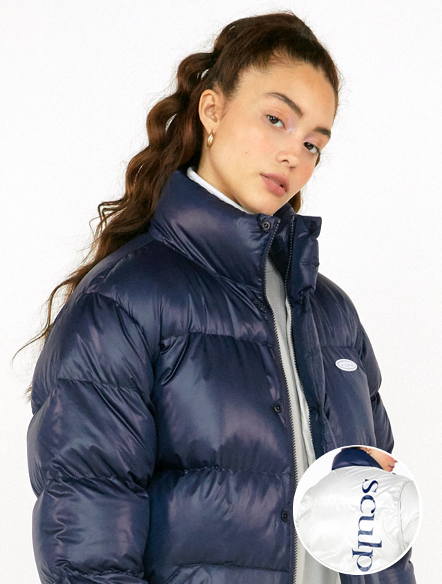 [RESTOCK][UNISEX] MIDDLE REVERSIBLE PUFFER DOWN [NAVY]