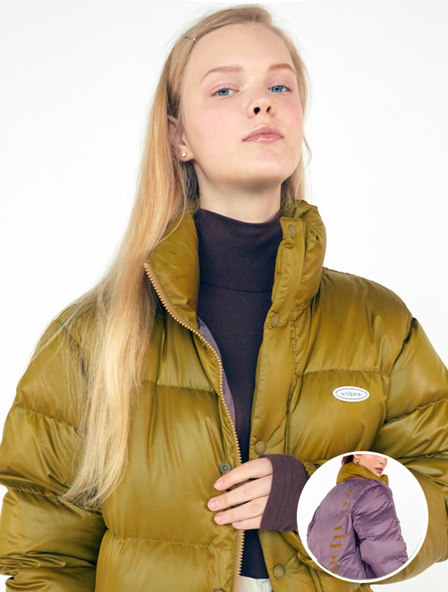[RESTOCK][UNISEX] MIDDLE REVERSIBLE PUFFER DOWN [OLIVE KHAKI]