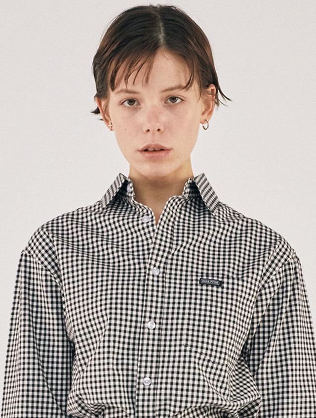 Standard Gingham Check Shirt [BLACK]
