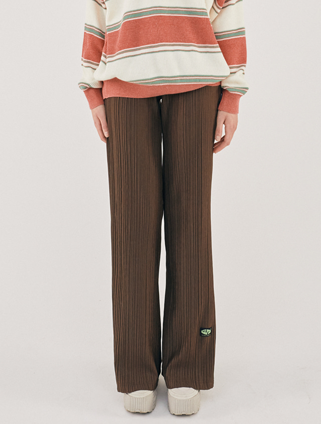 [2/21(금) 예약배송][SSS] PLEATED FLARE PANTS [BROWN]