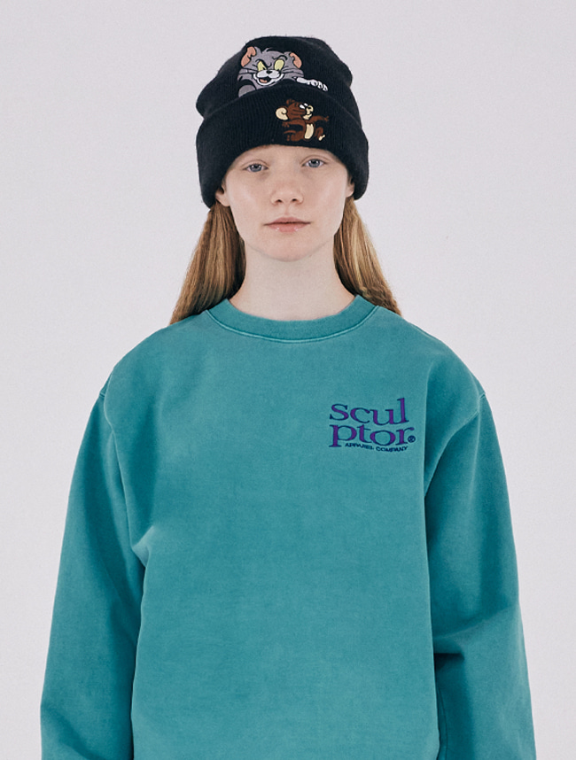 [2/21(금) 예약배송]Pigment Wash Sweatshirt [AQUA GREEN]