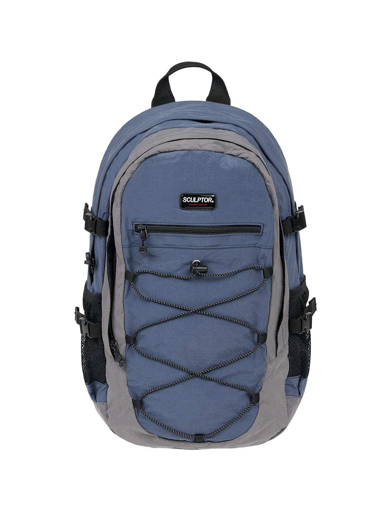 Nylon String Rucksack Blue/Gray