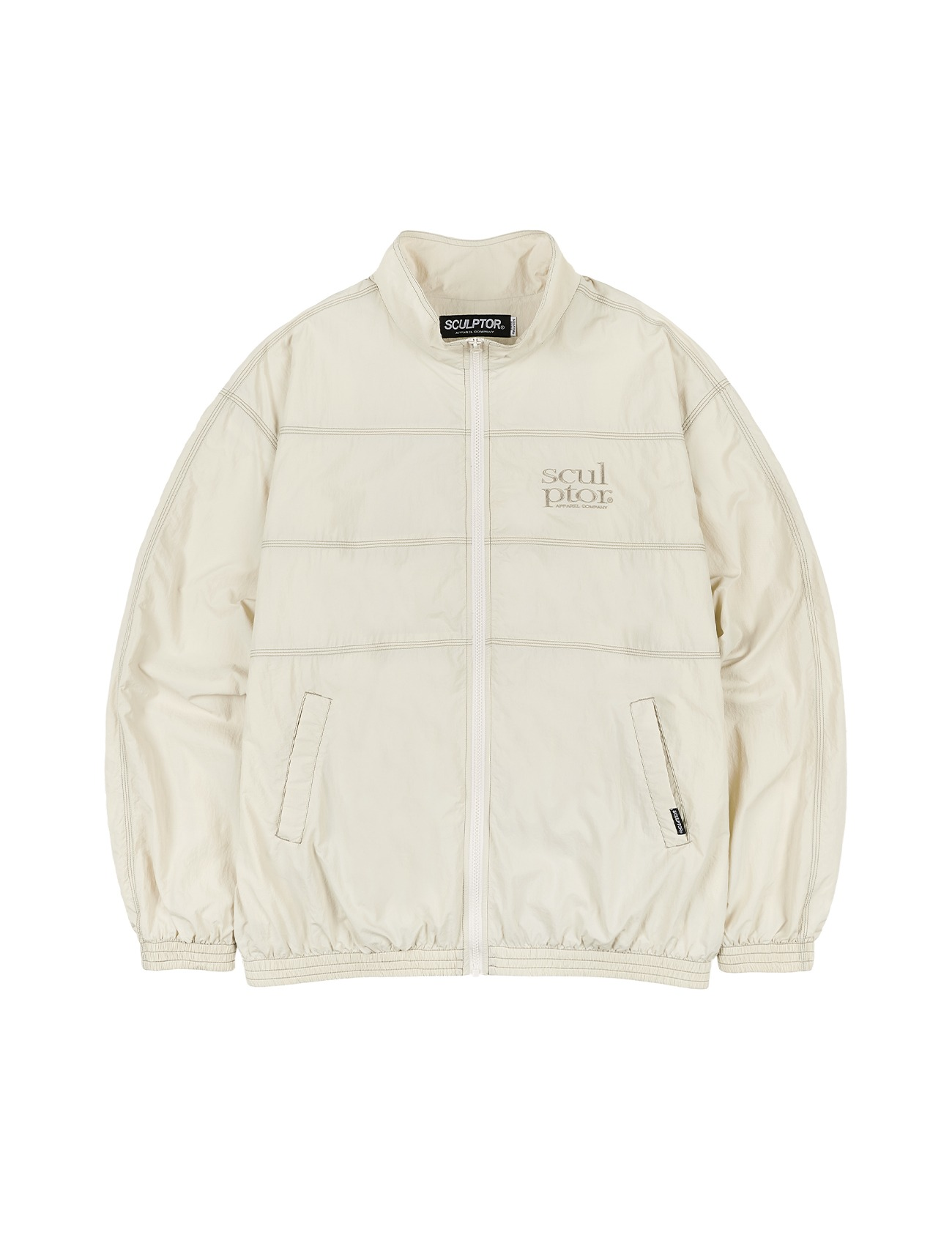 Triple Stitched Windbreaker Cream