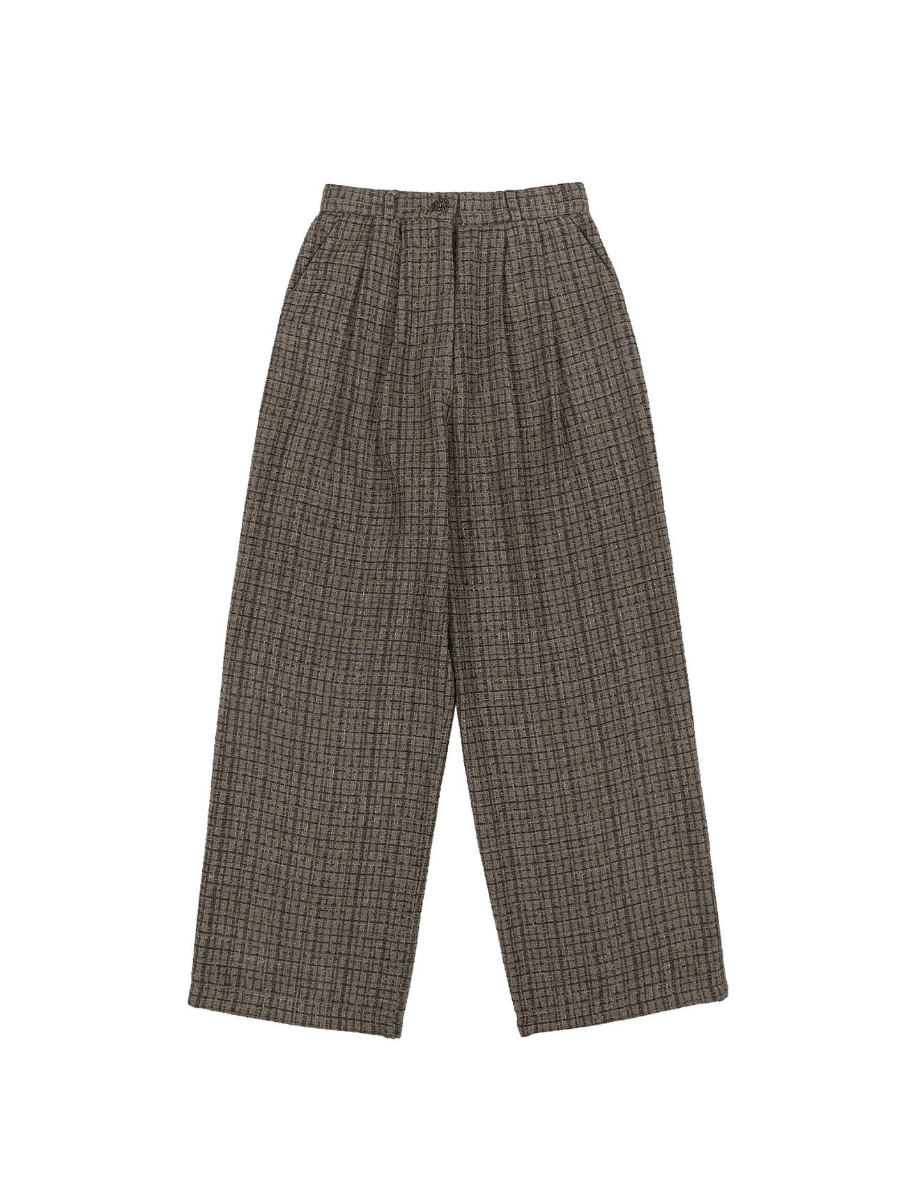 Chunky Tweed Pants Ash Brown