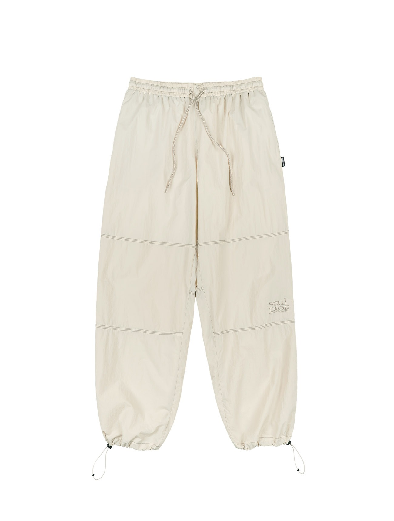 Triple Stitched Jogger Pants Cream