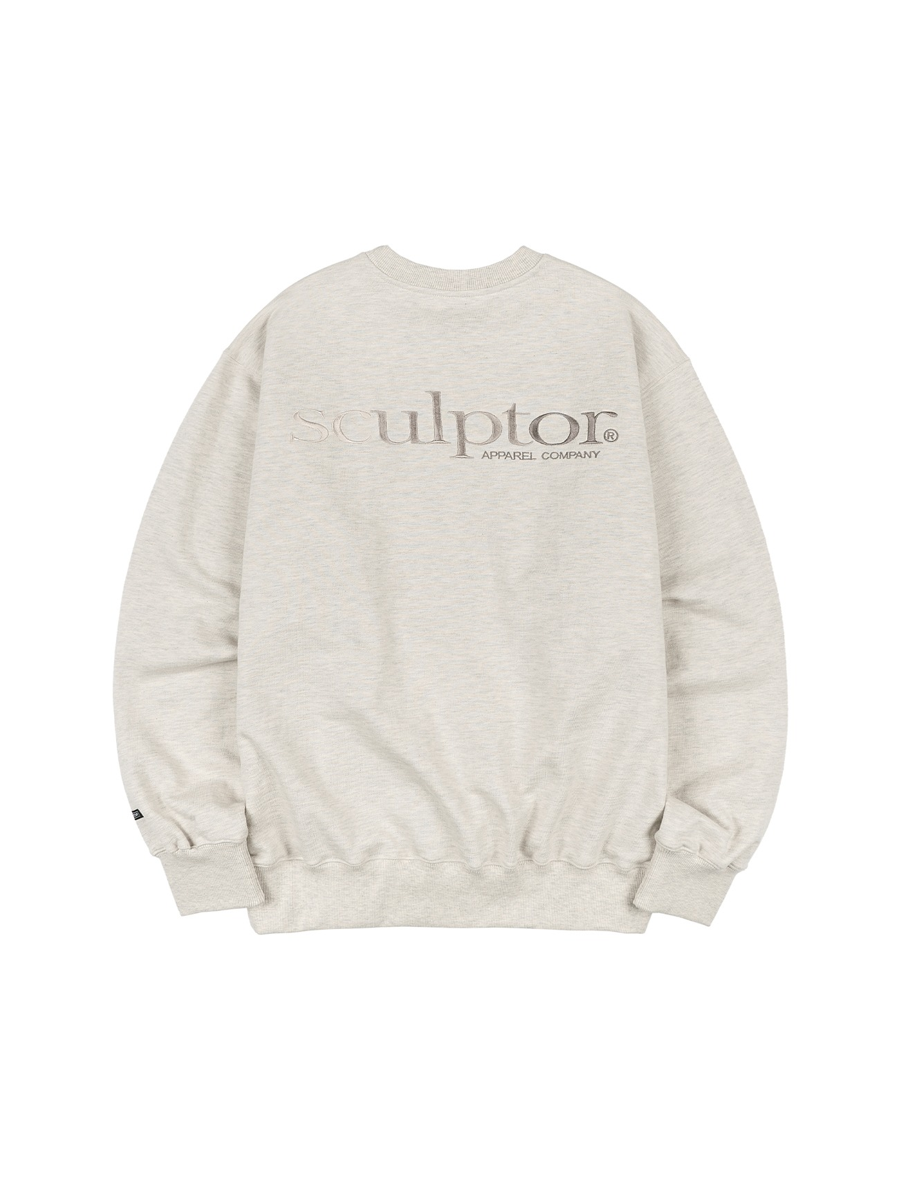 Gradation Retro Sweatshirt Sepia