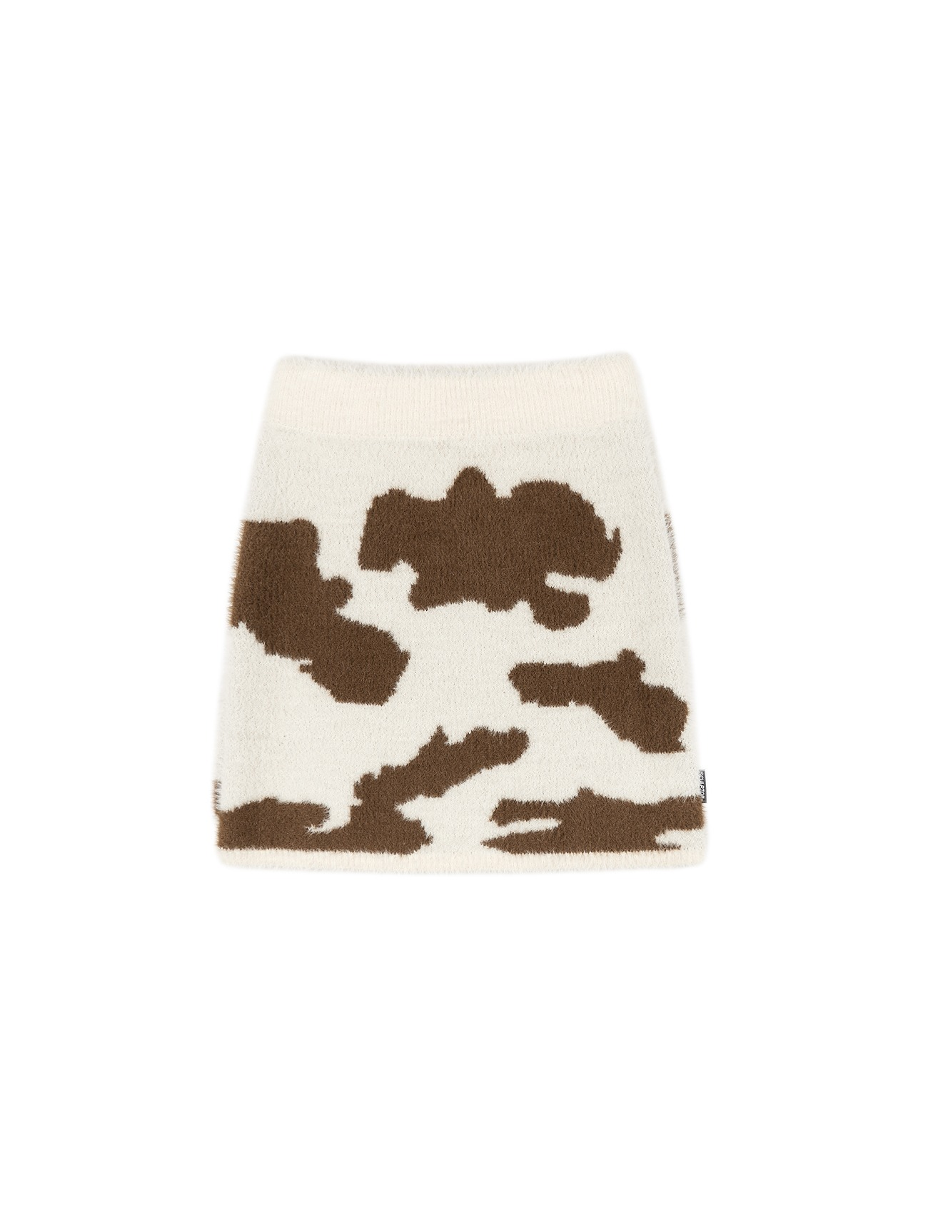 Moo Fuzzy Mini Skirt Brown/Cream