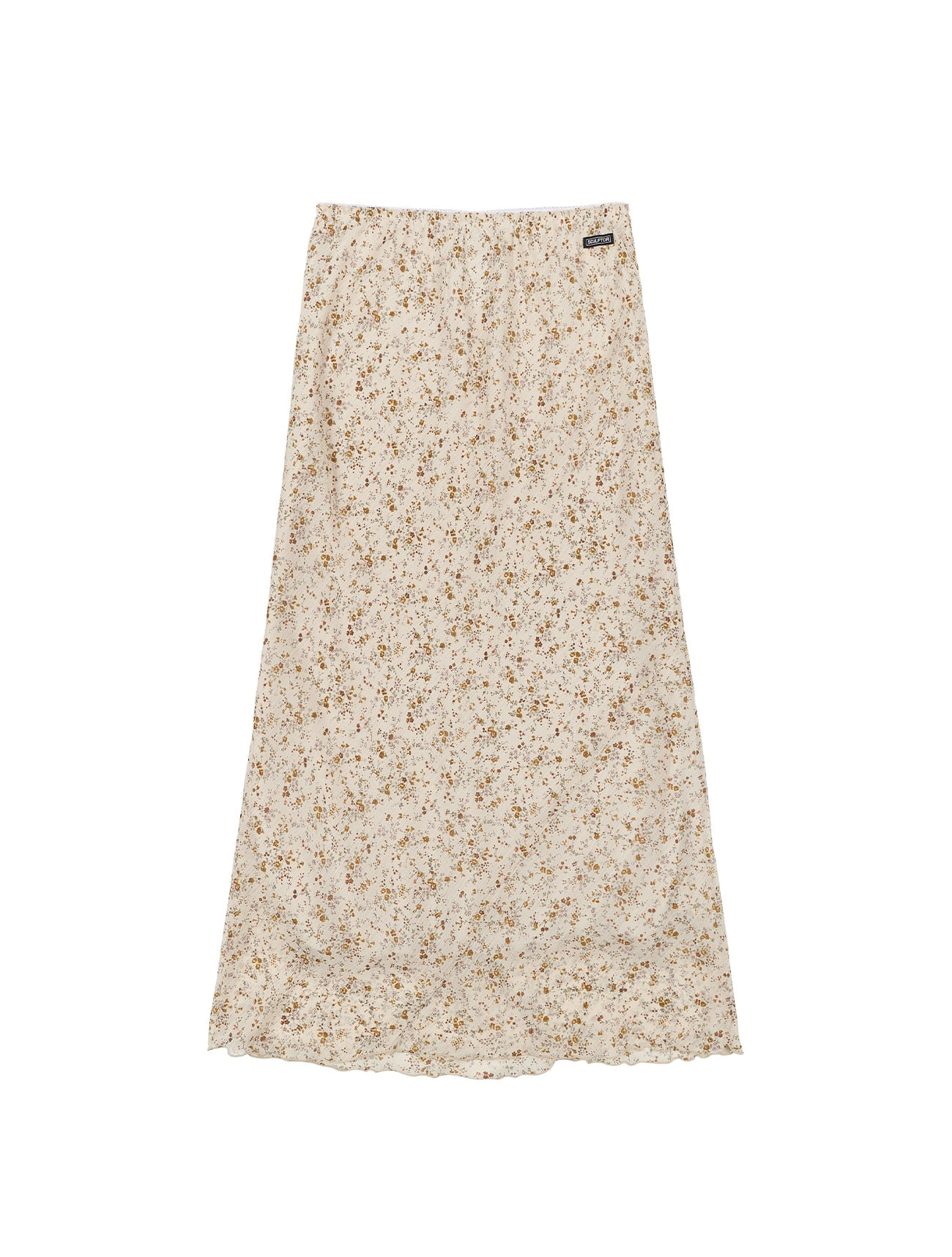 Double Bias Rose Skirt Ivory