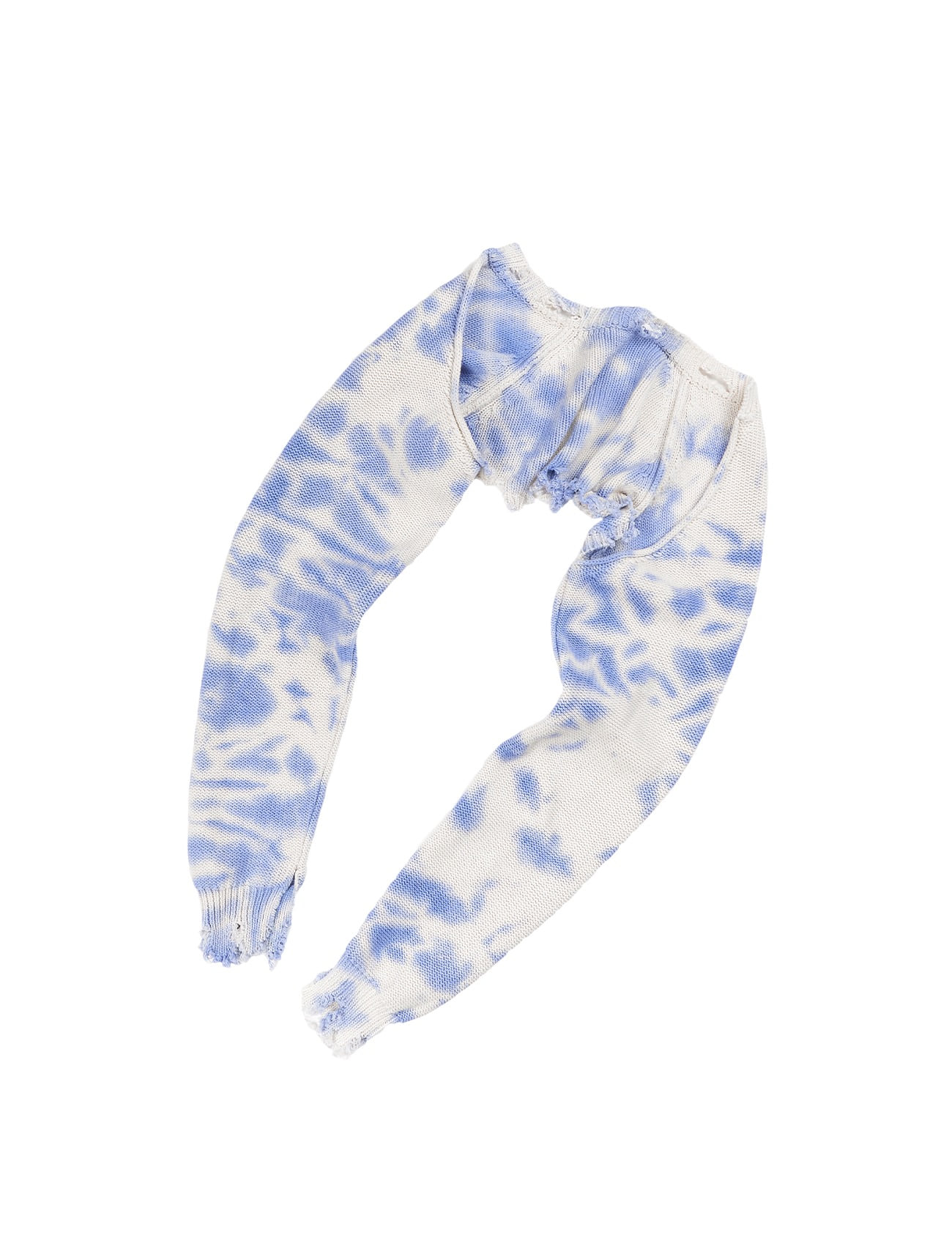 Damaged Tie-Dye Bolero Top Cloud